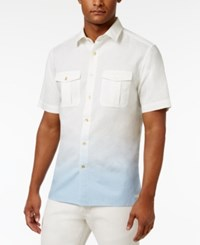 Sean John Men's Dip Dyed Shirt Only At Macy's Sj Cream