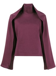 Y Project Sweatshirt With Double Layer Sleeves Cotton L Pink Purple