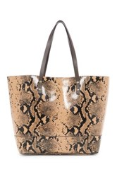 Cole Haan Beckett Leather Snake Print Tote Multi