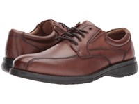 Dockers Trustee 2.0 Moc Toe Oxford Dark Tan Polished Full Grain Shoes Brown