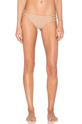 Bettinis Strappy Cheeky Bikini Bottom Beige