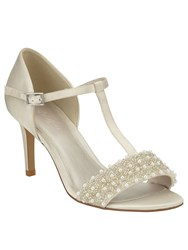 Phase Eight Anna Pearl Satin Sandals Ivory
