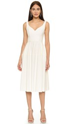Jill Stuart Sweetheart Neck Dress Off White