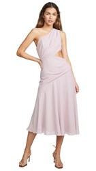 Fame And Partners One Shoulder Draped Dress Dusty Lilac