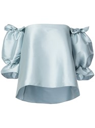Sachin Babi And Lettie Satin Off The Shoulder Top Blue