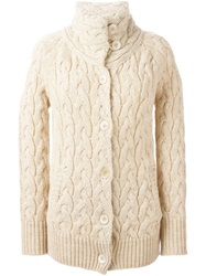 Woolrich Cable Knit Cardigan Nude And Neutrals