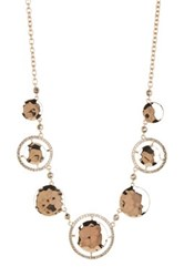 Judith Jack Gold Plated Sterling Silver Swarovski Marcasite And Crystal Bib Necklace Metallic