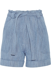 Paul And Joe Kelcalme Belted Cotton Blend Shorts