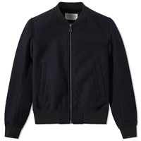Tomorrowland Melton Bomber Jacket Blue