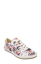 Taos 'Star' Sneaker Red Blue Peace Print Canvas