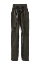 Sally Lapointe Stretch Leather Parachute Pant Black
