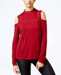 One Hart Juniors' Cold Shoulder Top Red
