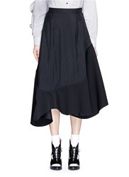 Toga Archives Asymmetric Ruffle Hem Skirt Black