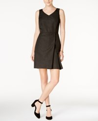 Tommy Hilfiger Pleated A Line Dress Only At Macy's Gold