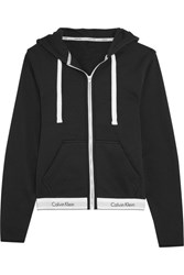Calvin Klein Underwear Modern Cotton Jersey Hooded Sweatshirt Black