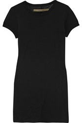 Enza Costa Pima Cotton Jersey T Shirt Black