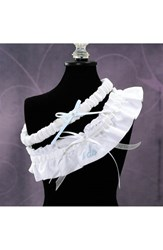 Cathy's Concepts Women's 'I Do' Embroidered Wedding Garter White