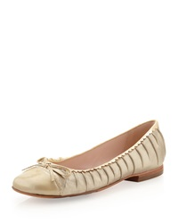 Taryn Rose Bambi Pintucked Flat Champagne