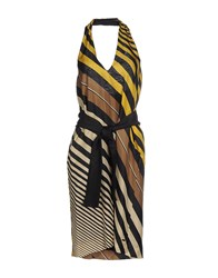 Fendi Dresses Knee Length Dresses Women Yellow