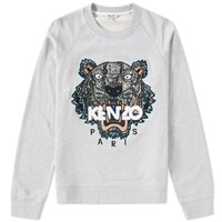 Kenzo Silk Face Tiger Crew Sweat Grey