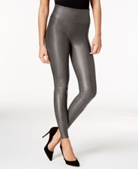 Spanx Faux Leather Leggings Gunmetal