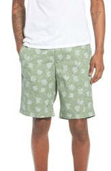 The Rail Deco Floral Print Shorts Green Hedge Deco Floral