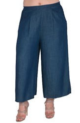 Standards And Practices Plus Size Women's Diana Tencel Palazzo Pants