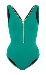 Oye Lea Zipper One Piece Green