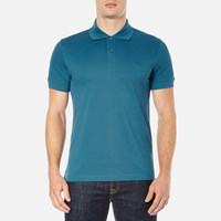 Hugo Boss Green Men's C Firenze Small Logo Polo Shirt Blue