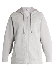 Adidas By Stella Mccartney Essentials Hooded Cotton Performance Sweatshirt Grey