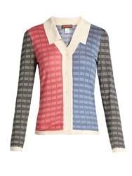 Duro Olowu Contrast Panel Silk Cardigan Multi