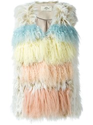 Urbancode Fur Sleeveless Jacket Multicolour