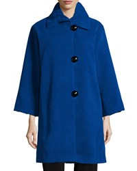 Caroline Rose Soft Coated Mid Length Coat Petite Women's Royal