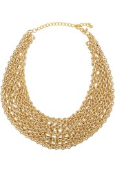 Kenneth Jay Lane Gold Plated Multi Chain Necklace