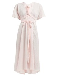 Loup Charmant Nautilus Cotton Wrap Dress Pink