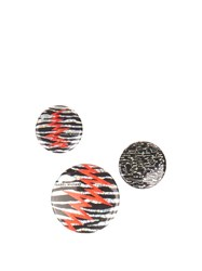 Isabel Marant The City Set Of Three Badges Silver Multi