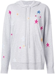 Chinti And Parker Star Print Hoodie Grey