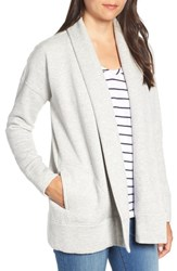 Vineyard Vines Open Front Knit Jacket Gray Heather