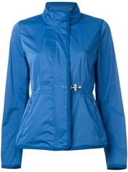 Fay Roll Neck Raincoat Blue
