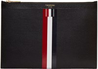 Thom Browne Black Small Zipper Stripe Tablet Holder