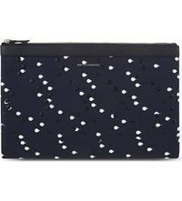 Want Les Essentiels Barajas Droplet Double Clutch Navy Dbl Dot
