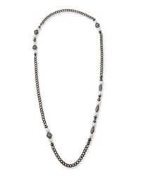 Hipchik Linda White Pearl And Long Chain Necklace