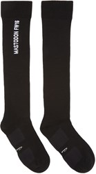 Rick Owens Black Mastodon Knee High Socks