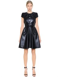 Dice Kayek Pleated Nappa Leather Dress