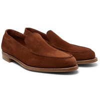 Edward Green Islington Suede Loafers Brown