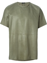 Joseph Leather T Shirt Green