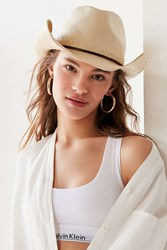 Urban Outfitters Straw Cowboy Hat Tan