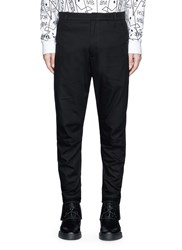 Marcelo Burlon 'Daniel' Cuff Strap Cotton Pants Black