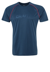 Craft Sports Shirt Cave Bright Red Blue Grey