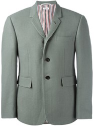 Thom Browne Buttoned Suit Jacket Green